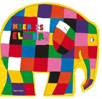 Cover van boek Hier is Elmer!